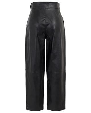 Cropped wide-leg trousers in faux leather TWINSET