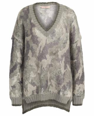 Mohair and wool blend V-neck jumper TWINSET