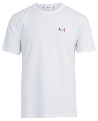 Schmales Jersey-T-Shirt mit Stickerei ami AMI