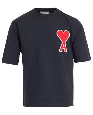 Oversize-T-Shirt mit Kreuzstich Big Ami de Coeur AMI