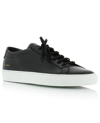 Achilles Low black leather low-top lace-up sneakers COMMON PROJECTS
