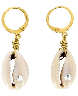 Boucles d'oreilles dorées Coquillage et Strass COQUILLAGE CRUSTACE
