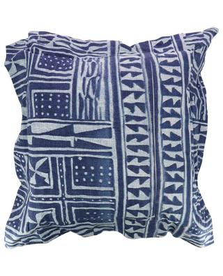 Wax print ruffled cushion WAX'S HOME