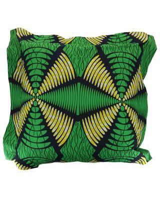 Wax print ruffled cushion WAX'S HOME