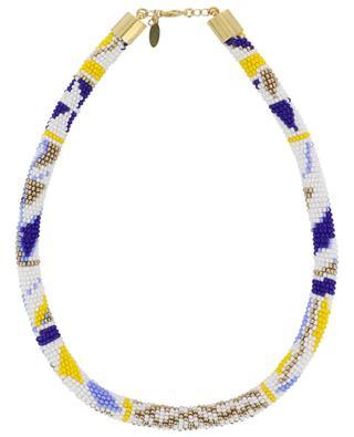 Tubular woven bead necklace AMAHLE
