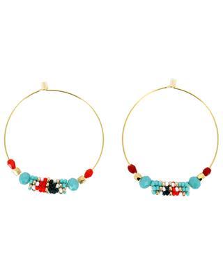 Hoop earrings with woven beads AMAHLE
