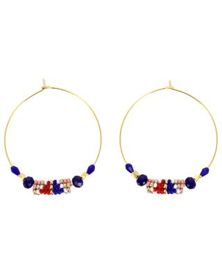 Hoop earrings with woven beads AMAHLE