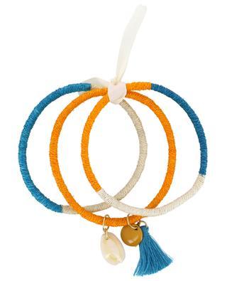 Set of three bangles with cauri AMAHLE