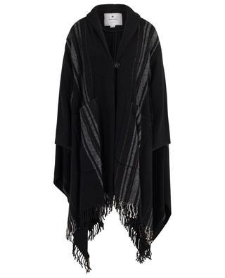 Poncho rayé en laine W's Blanket Coat WOOLRICH