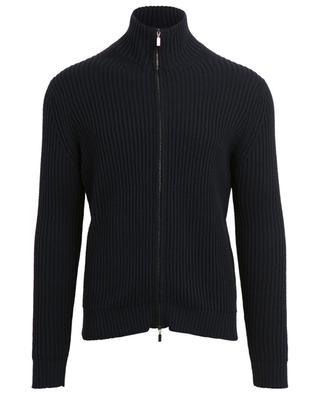 Cardigan zippé en laine mérinos FILIPPO DE LAURENTIIS