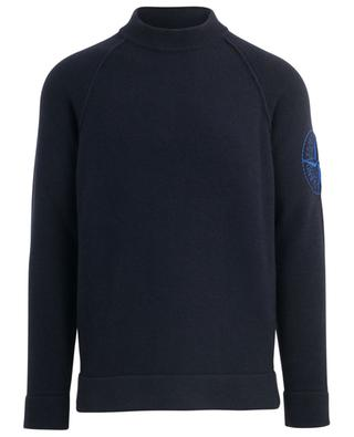 Wind rose embroidered thick raglan sleeve jumper STONE ISLAND