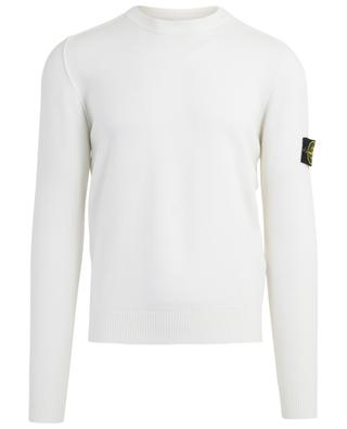 Crew neck jumper with rib knit detail STONE ISLAND