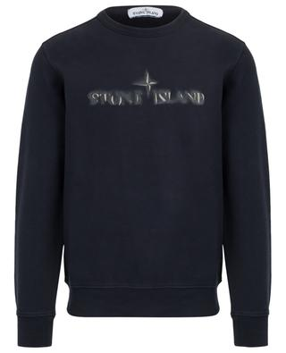 Sweatshirt with faded effect logo embroidery STONE ISLAND