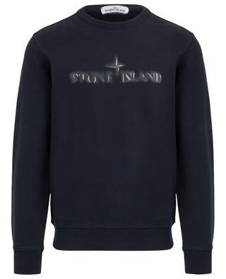 Sweatshirt mit verwischter Logostickerei STONE ISLAND