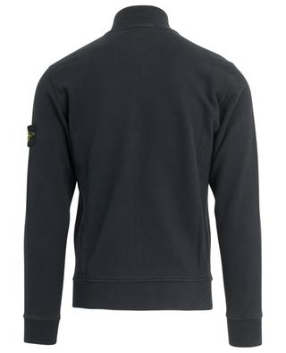 Wind rose logo zippered sweat jacket with stand-up collar STONE ISLAND