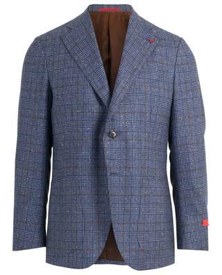 Musa glen check wool blend blazer ISAIA