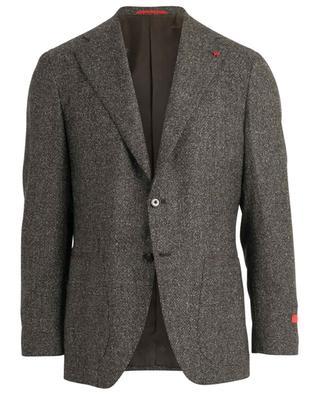 Blazer en tweed à boutonnière simple Musa ISAIA