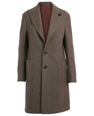 Manteau rayé en laine LARDINI