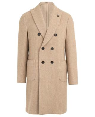 Manteau en laine mélangée texturée LARDINI