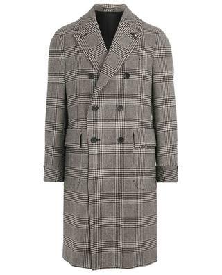 Houndstooth print wool coat LARDINI