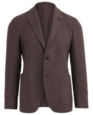 Wool glen check blazer LARDINI