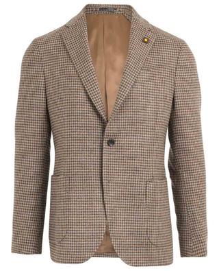 Wool houndstooth print blazer LARDINI