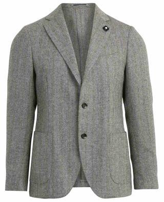 Chevron pattern wool blazer LARDINI