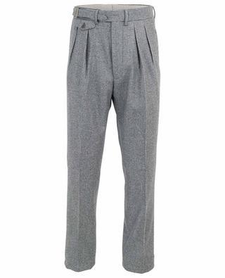 Houndstooth print wool tailored trousers LARDINI