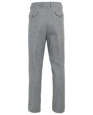 Houndstooth print wool tailored trousers LARDINI