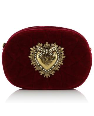 Devotion Camera quilted velvet cross body bag DOLCE & GABBANA