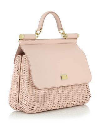 Handtasche aus lackiertem Weidengeflecht und Leder Sicily Medium DOLCE & GABBANA