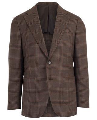 Houndstooth print textured wool blazer LARDINI