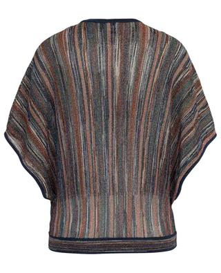 Lurex cropped top with stripes M MISSONI