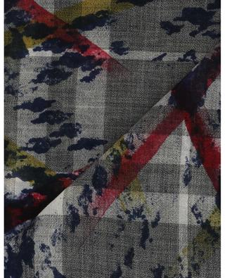 Ginger check scarf with touches of coulour FALIERO SARTI