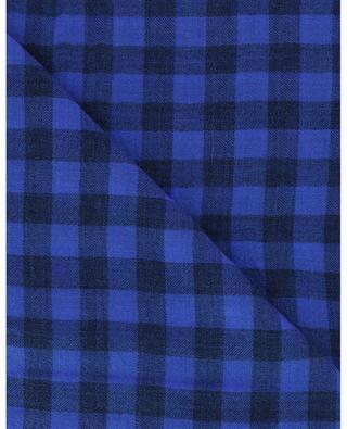 Riccardino ultra-lightweight gingham check scarf FALIERO SARTI