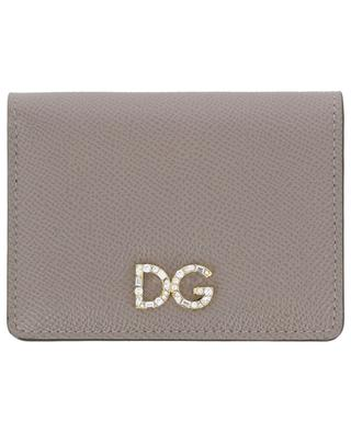 DG Logo Strass compact Dauphine leather wallet DOLCE & GABBANA