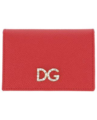DG Logo Strass card holder with flap DOLCE & GABBANA