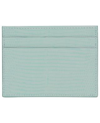 DG Crystals iguana embossed leather card holder DOLCE & GABBANA