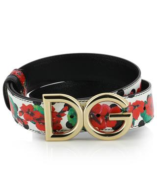 Portofino floral textured leather belt DOLCE & GABBANA