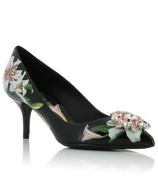 Bellucci floral pumps with strass DOLCE & GABBANA