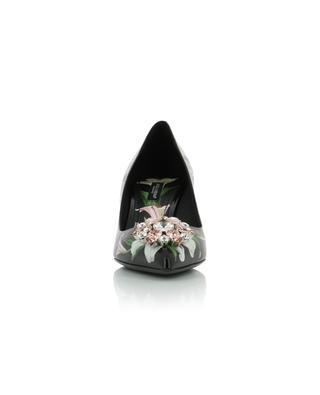 Escarpins à fleurs et strass Bellucci DOLCE & GABBANA