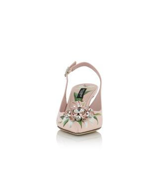 Bellucci floral slingback pumps with strass DOLCE & GABBANA