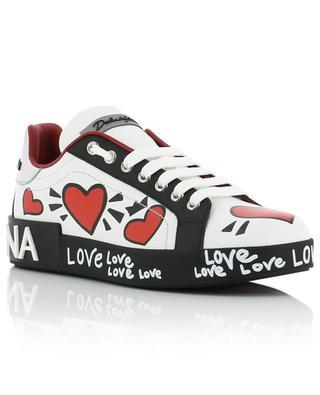 Portofino Love heart design leather sneakers DOLCE & GABBANA