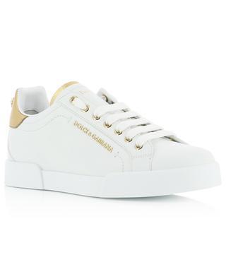 Niedrige Sneakers mit goldenem Detail Portofino Light DOLCE & GABBANA