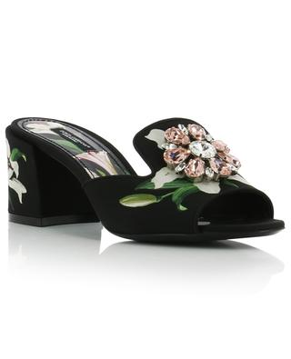 Keira floral mules with strass DOLCE & GABBANA