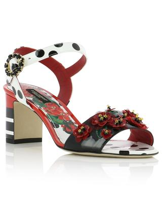 Keira patent leather sandals with flowers DOLCE & GABBANA