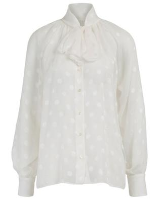 Polka dot georgette shirt with pussy bow DOLCE & GABBANA