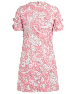 Jacquard lamé mini dress with decorative buttons DOLCE & GABBANA