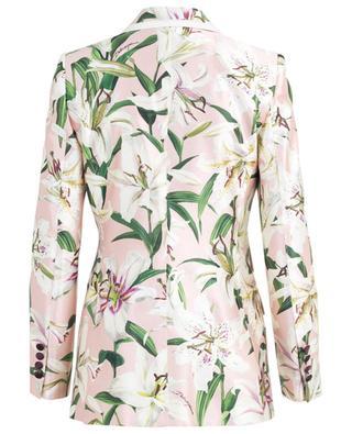 Blazer fleuri en soie Turlington Lily DOLCE & GABBANA