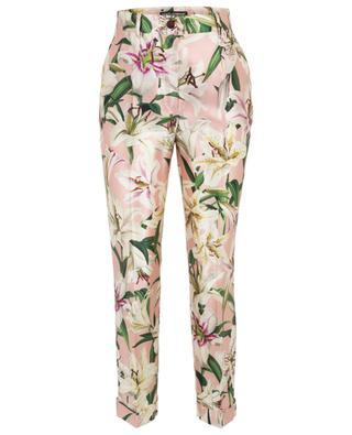 Lily straight high-rise silk trousers DOLCE & GABBANA